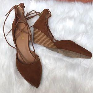 NWOT Kenneth Cole | Cognac Sandal Wedges Size 7